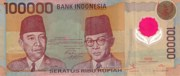 Rp100.000 note.